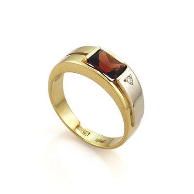 189b15036573 Кольцо с гранатом из желтого золота - ювелирные украшения магазина ...