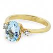 Кольцо с натуральным аквамарином и бриллиантами 2.95 г SLY-0221-295