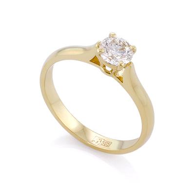 a4ab86be19b3 Кольцо с бриллиантом 0,5 карата - ювелирные украшения магазина ...