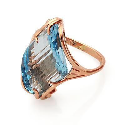 bd70c863ecdb Кольцо с топазом (голубым) - ювелирные украшения магазина Oromio в ...