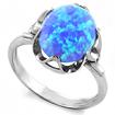 Серебряное кольцо с голубым опалом SL-0222-270 весом 2.7 г  стоимостью 1750 р.