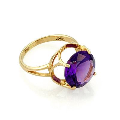 Кольцо с аметистом золото 3.65 г SL-0253-365