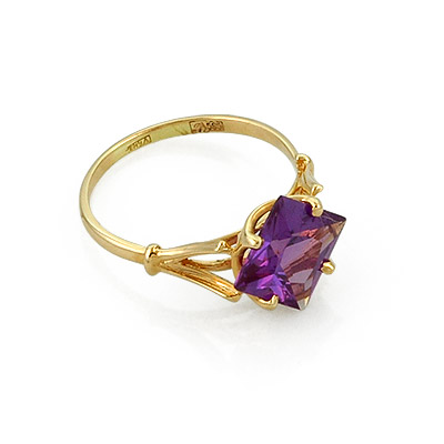 Кольцо с аметистом из золота 3.1 г SL-0259-261