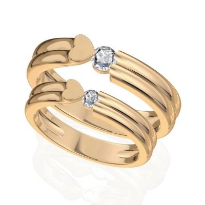 d5ac61f85aea Парные обручальные кольца - ювелирные украшения магазина Oromio в ...