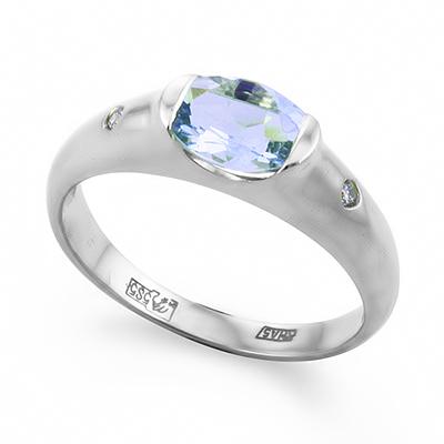 0127e3acefd7 Оригинальное кольцо с аквамарином - ювелирные украшения магазина ...