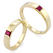 Обручальное кольцо с рубином SL-13801-698 весом 5.8 г  стоимостью 45000 р.